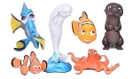 Finding Dory CAKE TOPPER Finding Nemo Hank Bailey Otter 6 Figure Set Birthday Party Cupcakes Figurines Disney * FAST Shipping * Toy Doll Set Fish Octopus