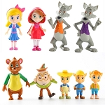 Goldie & Bear CAKE TOPPER Big Bad Wolf Three Little Pigs Humpty 9 Figure Set Birthday Party Cupcakes Figurines Disney * FAST Shipping * Toy Doll Set