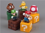 Super Mario Bros CAKE TOPPER Luigi Yoshi Goomba 5 Figure Set Birthday Party Cupcakes Mini Figurines Nintendo * FAST Shipping * Toy Doll Set