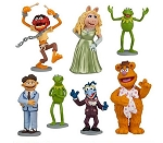 Muppets CAKE TOPPER Kermit Frog Miss Piggy Fozzie Bear 7 Figure Set Birthday Party Cupcakes Figurines Disney * FAST Shipping * Toy Doll Set