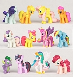 My Little Pony CAKE TOPPER Rainbow Dash Princess Celestia Cadance 12 Figure Set Birthday Party Cupcakes Mini Figurines * FAST Shipping * Toy Doll Set