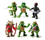 Ninja Turtles CAKE TOPPER Michelangelo Leonardo Donatello Raphael 6 Figure Set Birthday Party Cupcakes Mini Figurines tmnt * FAST Shipping * Toy Doll Set