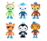 Octonauts CAKE TOPPER Captain Barnacles Peso Penguin Kwazii Kitten 6 Figure Set Birthday Party Cupcakes Figurines * FAST Shipping * Toy Doll Set Sea