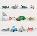 Planes CAKE TOPPER Dusty Fire & Rescue 12 Mini Figure Set Birthday Party Cupcakes Figurines Disney * FAST Shipping * 1.5 - 2 inch Figures Toy Doll Set