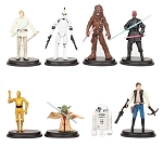 Star Wars Yoda Luke Hans Solo 8 Figure Set Birthday Party Cupcakes Figurines Disney * Fast Shipping * Storm Trooper Chewbacca Darth Maul C3PO Yoda R2D2 Toy Doll Set