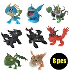How To Train Your Dragon 2 CAKE TOPPER Toothless Stormfly Gronckle 8 Figure Set Birthday Party Cupcakes Figurines * FAST Shipping * Toll Doll Set