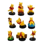 Winnie the Pooh CAKE TOPPER Pooh Bear 9 Mini Figure Set Birthday Party Cupcakes Figurines Disney * FAST Shipping * 1.25 - 2 inches Toy Doll Set