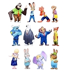 Zootopia CAKE TOPPER Judy Hopps Nick Wilde Flash Sloth 12 Mini Figure Set Birthday Party Cupcakes Figurines Disney * FAST Shipping * Toy Doll Set