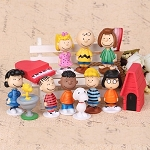 Peanuts CAKE TOPPER Charlie Brown Snoopy Woodstock Lucy Linus 12 Figure Set Birthday Party Cupcakes Mini Figurines * FAST Shipping * Toy Doll Set