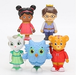 Daniel Tiger's Neighborhood CAKE TOPPER 8 Figure Set Birthday Party Cupcakes Figurines * FAST Shipping * Toy Doll Set Elaina Prince Wednesday