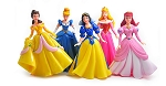 Large Disney Princess CAKE TOPPER Cinderella Belle Aurora Snow White Ariel 5 Figure Set Birthday Party Figurines Disney * FAST Shipping * Toy Doll Set