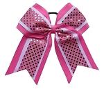 "NEW /""DISCO SQUARES Silver Burgundy/"" Cheer Bow 3/"" Ribbon Girls Hair Cheerleading"