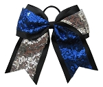 New FANCY SEQUIN Blue & Silver