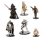6pc Star Wars CAKE TOPPER Force Awakens Finn Rey BB-8 Kylo Ren 6 Figure Set Birthday Party Cupcakes Figurines Disney * Fast Shipping * Storm Trooper Toy Doll Set