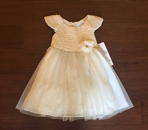 Rare Editions Christmas Dresses.New Champagne Gold Rose Dress Girls Baby 5 Christmas Boutique Clothes Holiday Rare Editions Flower Girl