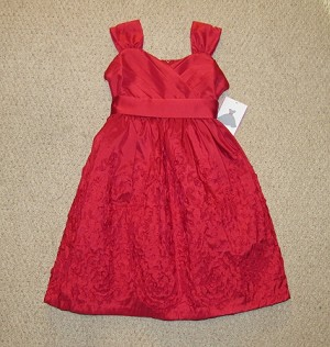 new red taffeta bonaz dress girls clothes 7 fall winter boutique holiday kids rare editions christmas valentines day